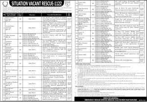 KPK Rescue 1122 Jobs 2020 PTS Application Form Roll No Slips