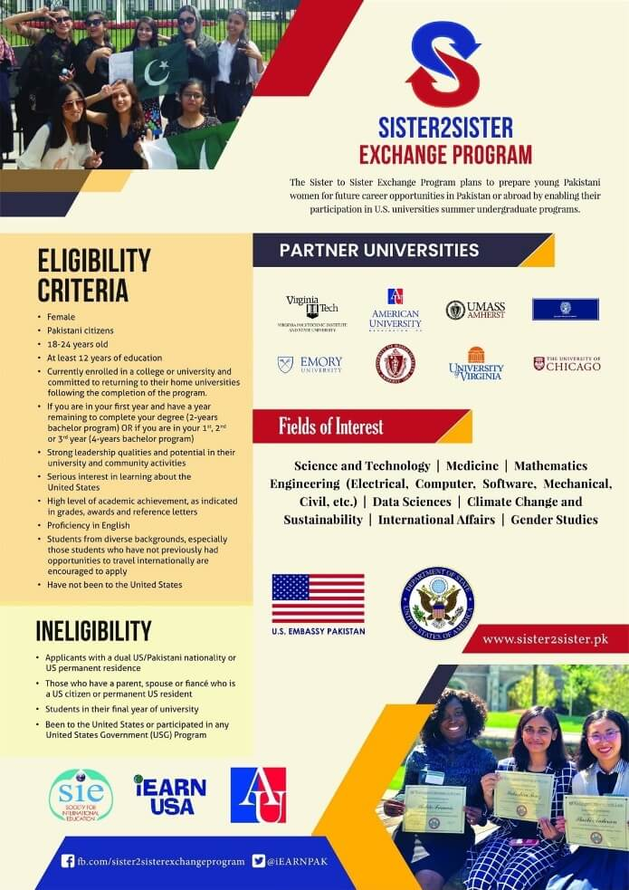 US Summer Sisters Program 2021 Apply Online Eligibility Criteria