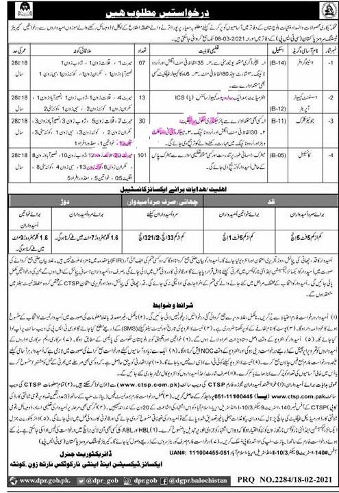 Anti Narcotics Force ANF Balochistan Jobs 2021 CTSP Application Form Roll No Slip